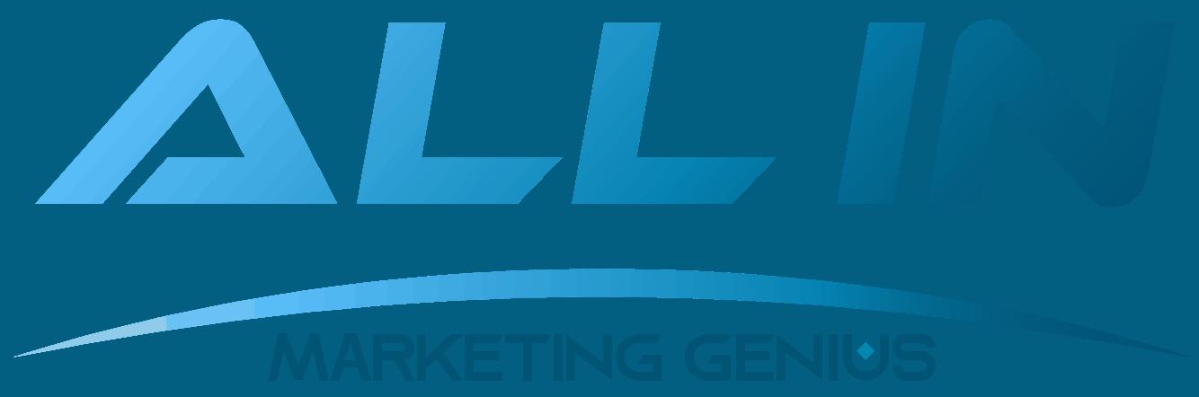 logo ALL IN Marketing Genius